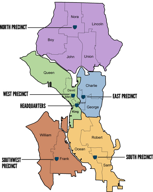 South Precinct Map Boundaries South Seattle Crime Prevention Council